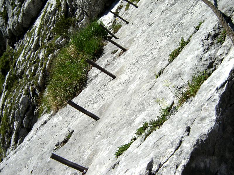 Klettersteig Zugspitze Höllental : Das berühmte brett im höllental klettersteig
