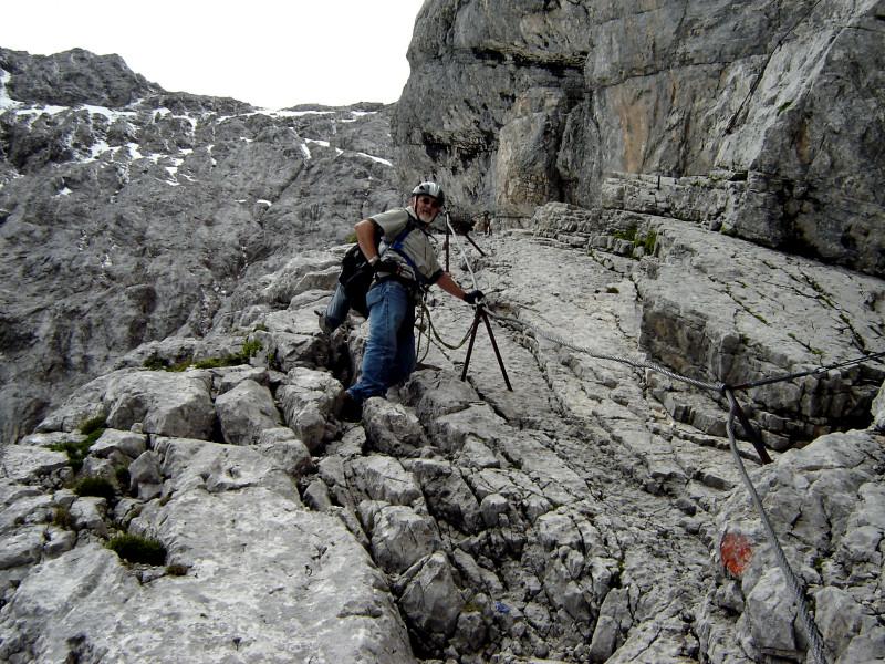 Klettersteig Höllental : Natürliche felsbänder im höllental klettersteig